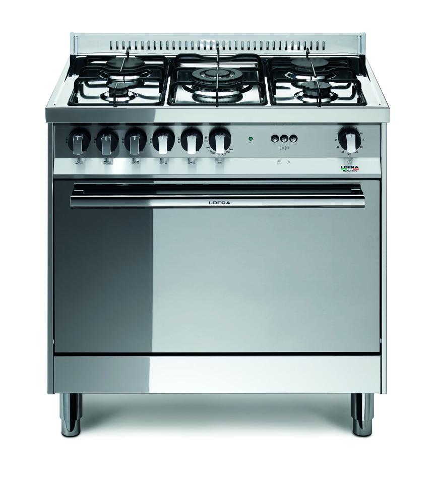 Lofra cucina maxima inox mg85g c 80x50 - Piano cucina acciaio inox ...