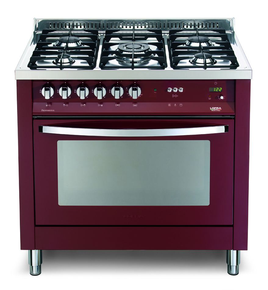 Lofra cucina rainbow prg96gvt c 90x60 rosso - Cucine a gas libera installazione ...